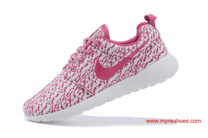 Nike Roshe One x Yeezy 350 Boost Pink/White Womens Ultralight Shoes $66