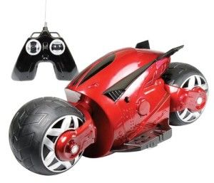 Kid Galaxy: Cyber Cycle – Red Designed with hidden wheels that prevent falling over. The front and back wheels are independently controlled for the coolest of maneuvers. http://awsomegadgetsandtoysforgirlsandboys.com/kid-galaxy/ Kid Galaxy: Cyber Cycle – Red