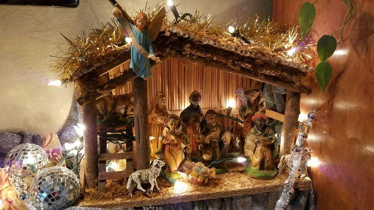 Antique nativity from you Grandma Vi