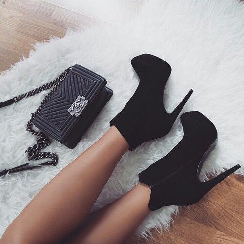Imagem de shoes, fashion, and black