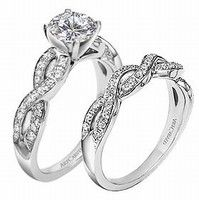 rings that are part of a set and would fit together easily on your finger. pretty