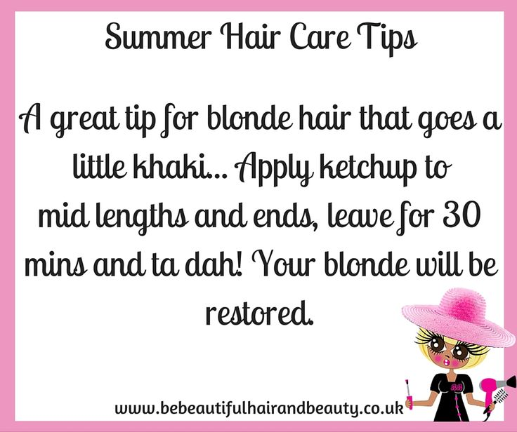 Summer Hair Care Tip #3