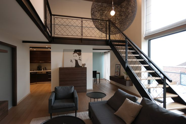loft space with industrial accents