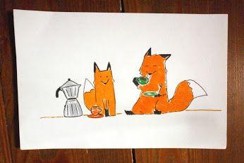"""-100: Mattina presto - caffè per """"venire inquà""""!  Early morning - coffe to """"come around""""! #fox #animal #love #volpi #coffee #monday #lunedi"""