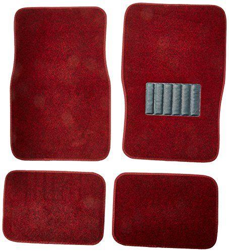 BDK Universal Fit 4-Piece Metro Auto Carpet Mat - (Burgundy) - http://www.caraccessoriesonlinemarket.com/bdk-universal-fit-4-piece-metro-auto-carpet-mat-burgundy/  #4Piece, #AUTO, #Burgundy, #Carpet, #Metro, #Universal #Floor-Mats, #Interior