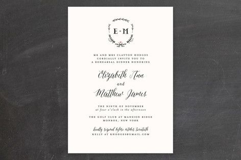 """""""Always"""" - Rustic Rehearsal Dinner Invitations in Mint by Susan Brown."""