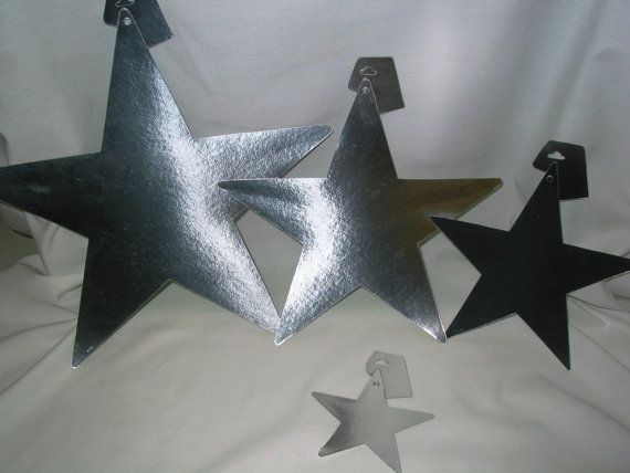 Vintage Silver Stars 515 Tag Board by TheVintageEvent on Etsy, $0.50