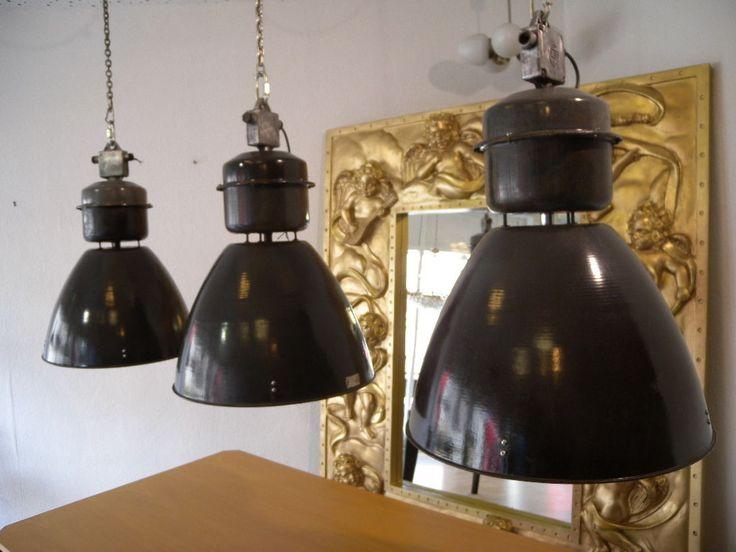 Nice Restauriert Bauhaus Emaille Fabriklampe Loft Deckenlampe Lampe Industriedesign