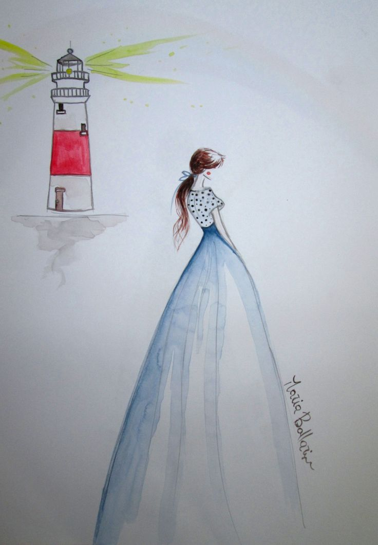 the lighthouse keeper #sketch #sketches #illustration #fashionillustration #fashion