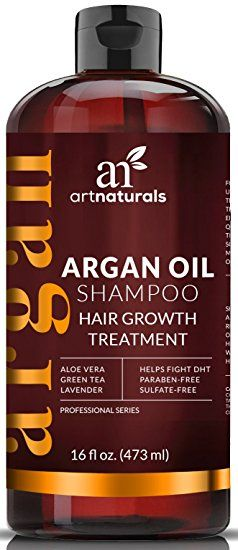 ArtNaturals Organic Argan-Oil Shampoo for Hair-Regrowth - 16 Oz - Sulfate Free - Best Treatment for Hair Loss, Thinning and Hair Growth - Product For Men and Women - Infused with Biotin - 2016