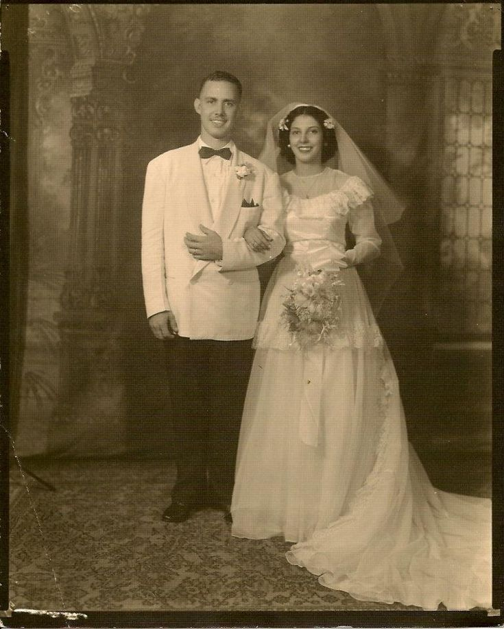 1940's Louisana French Creole newlyweds