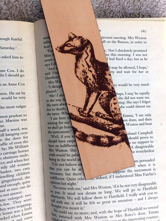 Leather Genet Bookmark featuring historical illustration #africananimal #genet #historylove