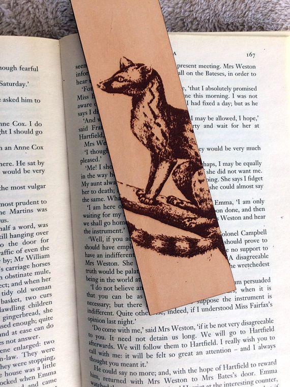 Leather Genet Bookmark featuring historical illustration #africananimal #genet #historylove