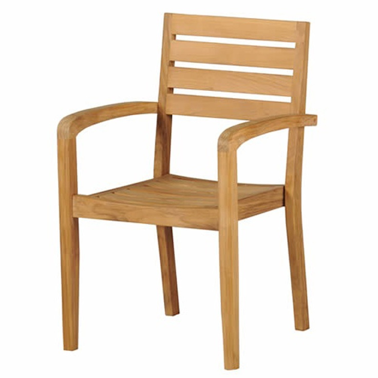 ACHICA | Naunton Manor Teak Richmond Classic Stacking Armchair £105 from 169 also available w/o arms