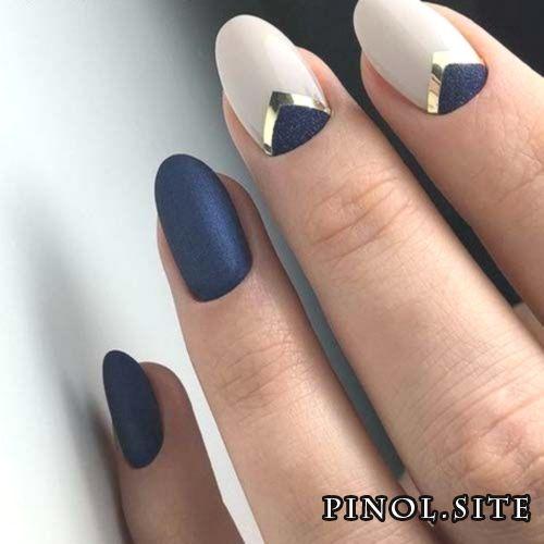 Minimales Nail Verfahren Formgebung Blau #Acryl #Nagel #bruiloft #makkelijk #glitter