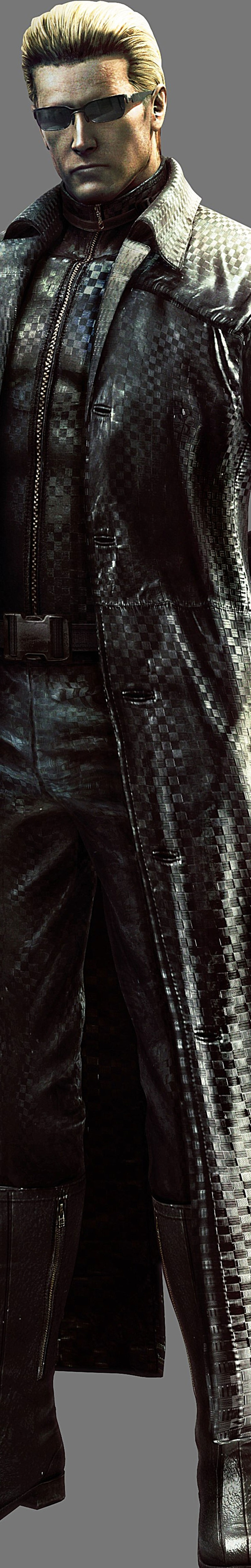 Albert Wesker has also been in the resident evil series since the first game.  He was infected with the T-virus when a B.O.W. named Tyrant killed him.
