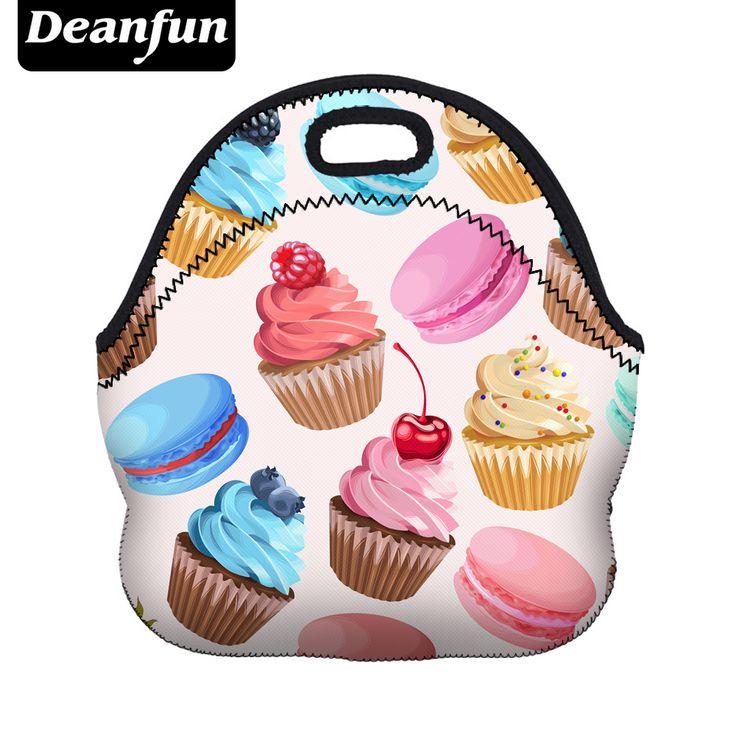 Deanfun Mujeres Bolsa de Almuerzo 3D Impreso Neopreno Cremallera Impermeable 2017 de la venta Caliente para el Paquete de Alimentos 50807