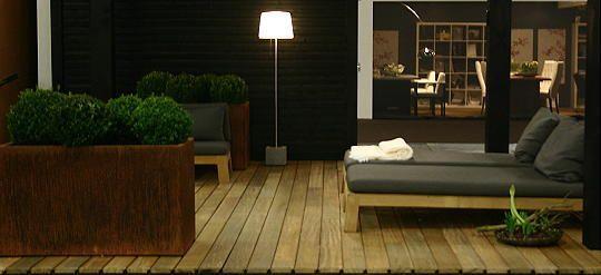 Dutch Designer Piet Boon Inspiration - Sober Chic Wooden Terrace & Garden Furniture at a K Veranda.