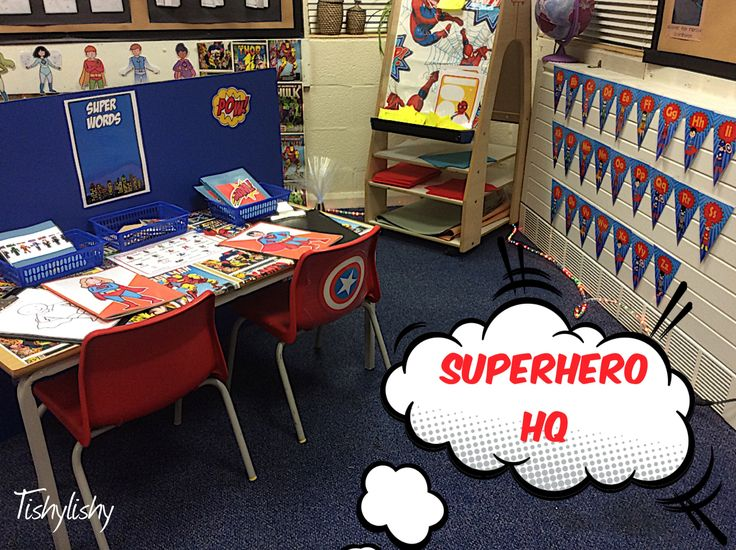 One view of Superhero HQ in my FS2 class.