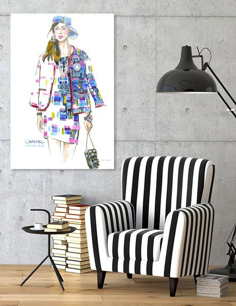 Discover «A woman in a suit with geometric pattern», Limited Edition Acrylic Glass Print by Irina Ivanova - From $99 - Curioos