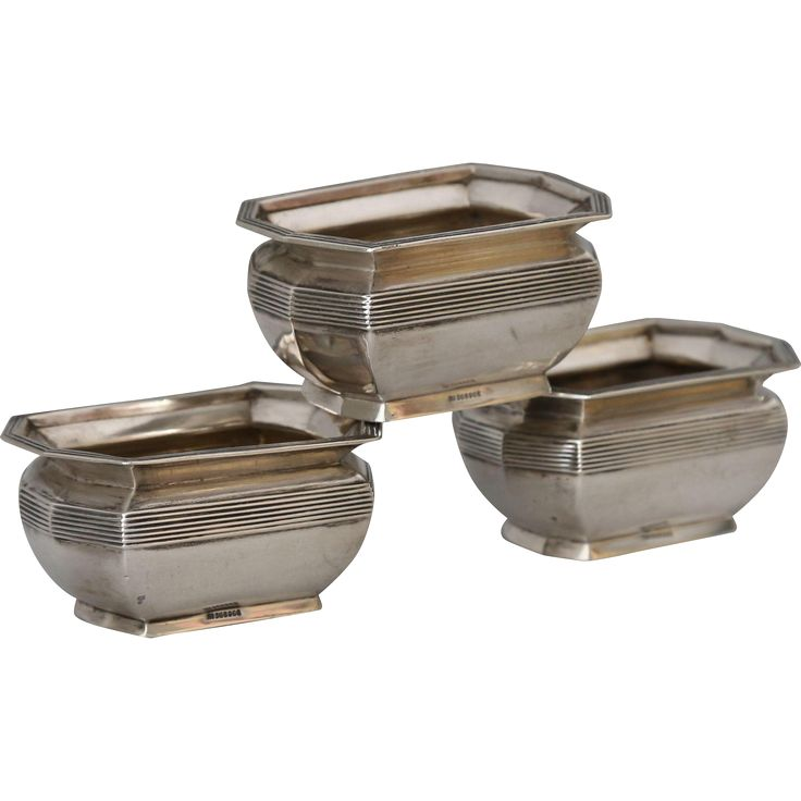 Antique Sterling Silver Salts or Nut Dishes