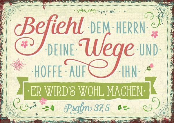 Postkarte - Befiehl dem Herrn deine Wege.