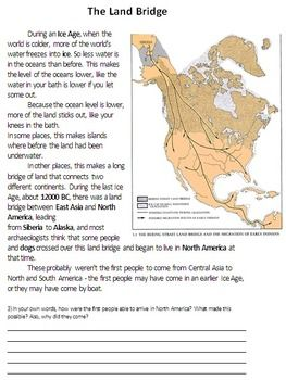 Land Bridge Theory of Migration - Asia to North America                                                                                                                                                     More                                                                                                                                                     More