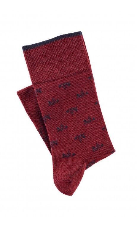 Chaussettes Homme Rouge Made In France Mode Motif Grappes de Raisins inspirée des vignes - Idee cadeau de noel pour homme 2017. Thème : vin, restaurant, gastronomie, gourmand, style : chaussettes à motif rouge