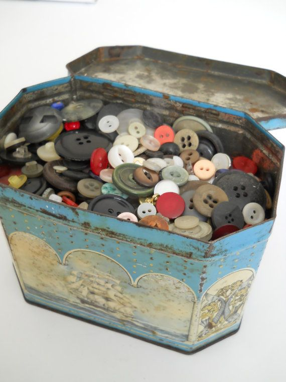 I have my Nan's old tin of buttons I love going through them some she bought and some came off old clothing if she were here now she would love Pinterest and all the crafting ideas