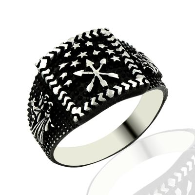 Beelogold - 925K Sterling Silver Circassian Men Ring