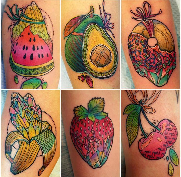 Katie Shocrylas fruit tattoos
