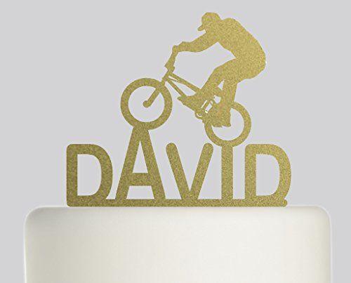 BMX Bike PERSONALISED Cake Topper- Acrylic Cake Topper…