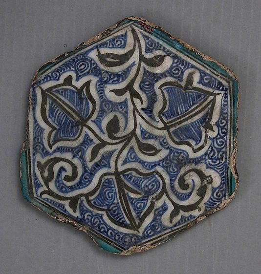 Hexagonal Tile 15th–16th century Syria