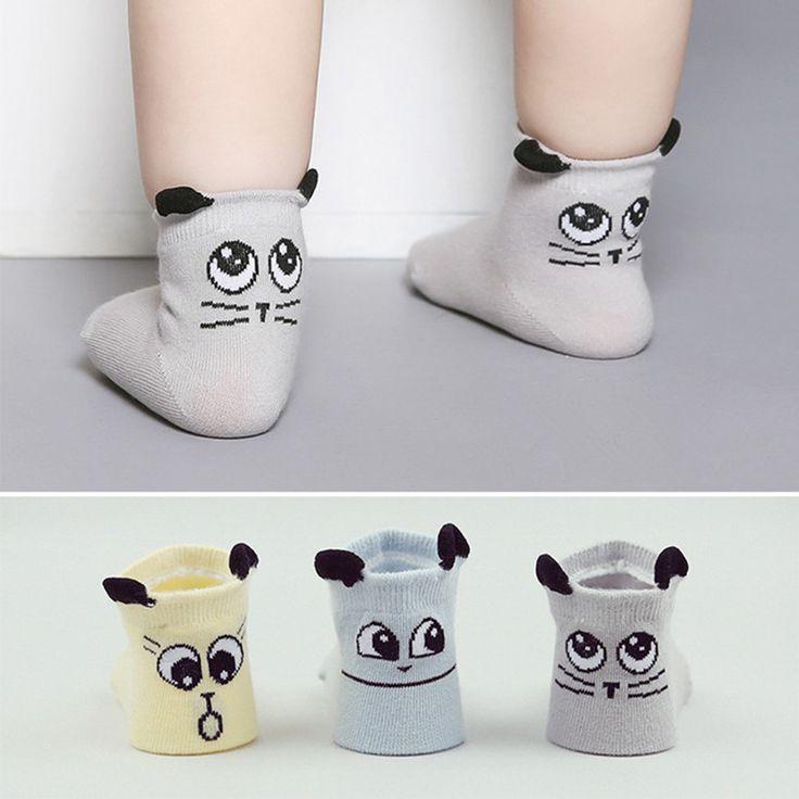 Spring Autumn Baby Socks Cotton Newborn Boys Girls Sock Cute Toddler Asymmetry Anti-slip Socks //Price: €2 & FREE Shipping //   #fashion #baby #clothes #trendy #2017