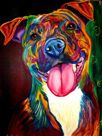 Pitbull - Dawgart   Crie seu quadro com essa imagem…