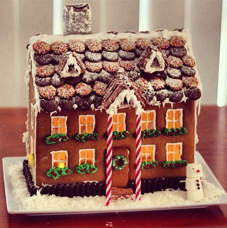 Here's the template you'll need to make your Gingerbread House.