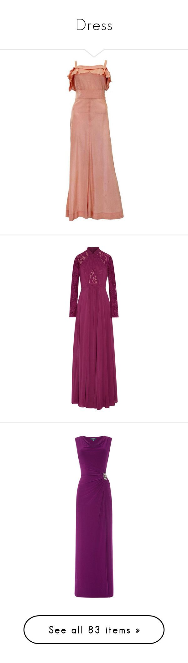 """""""Dress"""" by jaquemel ❤ liked on Polyvore featuring dresses, gowns, brown, maxi dress, silk slip, red slip dress, red silk dress, stripe maxi dress, maxi dresses and plum"""