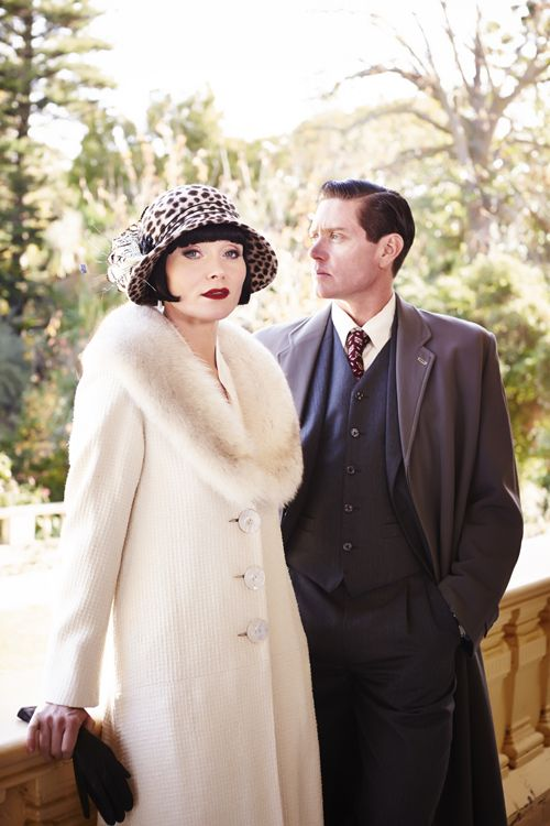 Essie Davis as Phryne Fisher and Nathan Page as Jack Robinson in Miss Fisher's Murder Mysteries