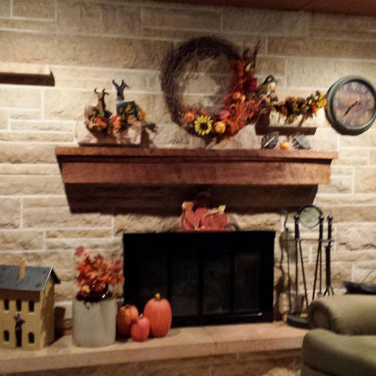 This same look but longer mantle- Hometalk | Updating A Stone Fireplace Wall