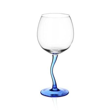 Bernardo Mavi Ayaklı Balon Kadeh #tabledesign #blue #drinking #wine #glass