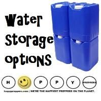 Water storage options: A family of four needs 270 gallons of water for a three month water supply, according to Utah State University. Check out how you'll store that much water... http://happypreppers.com/water-storage