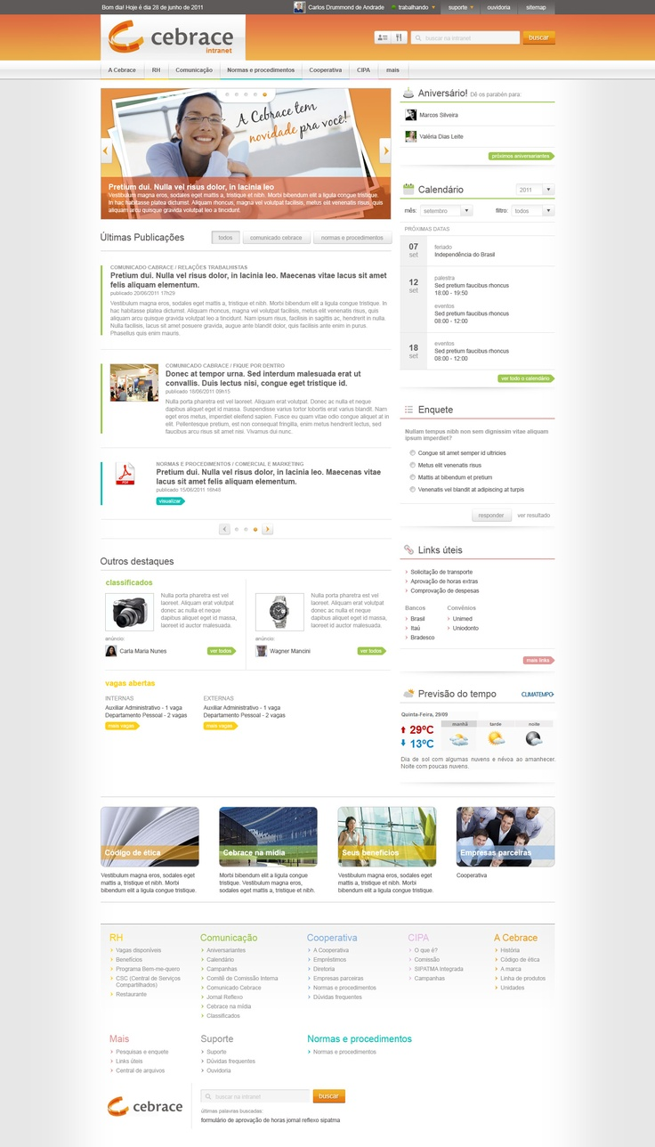 Sharepoint site design ideas - Elegant And Colour Coded Design That Tackles Vast Content Ordered Into Simple Hierarchical Structure In A Grid Designwebsite
