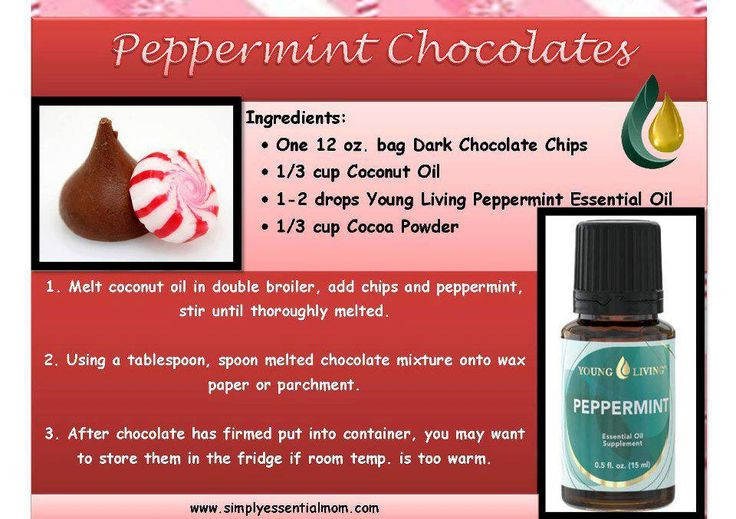 Young Living Essential Oils: Peppermint Chocolate Recipe