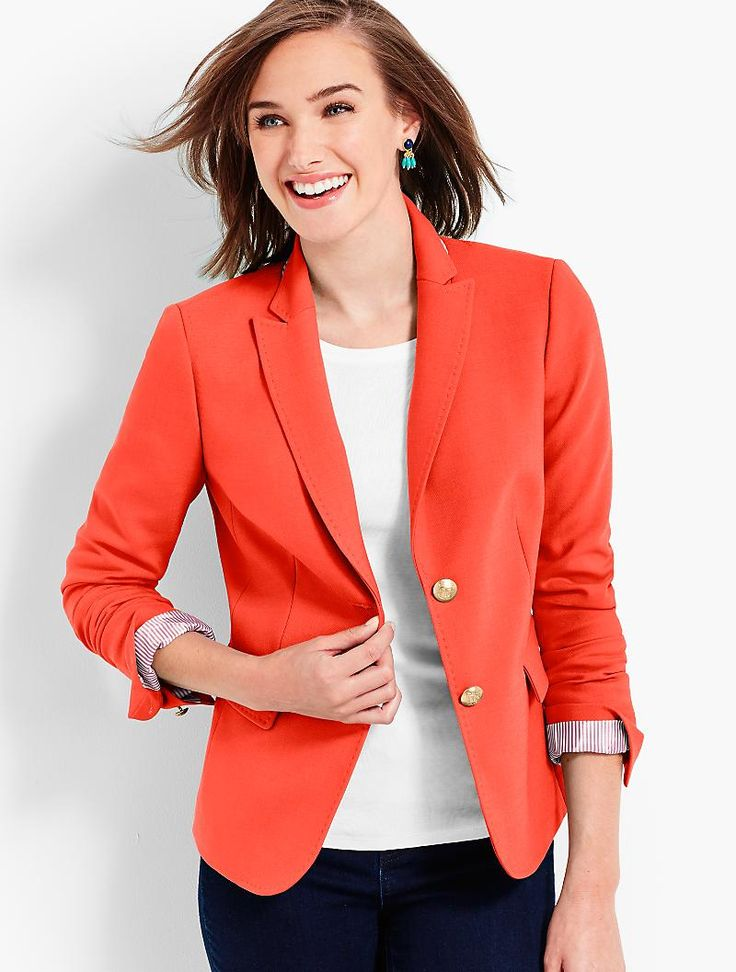 Wool Bi-Stretch Blazer | Talbots - SB Sep 2017