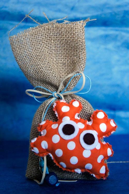 Μπομπονιέρα βάπτισης, ΖΩΑΚΙΑ ΤΗΣ ΘΑΛΑΣΣΑΣ, από ύφασμαSEA ANIMALS, memory gift…