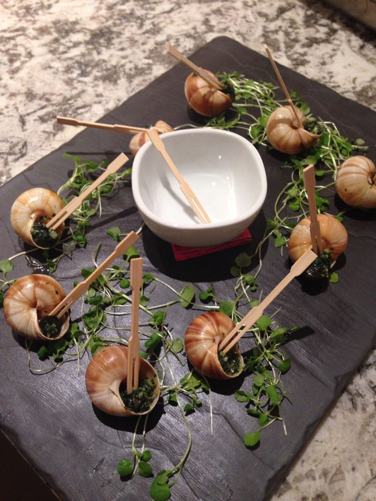 Escargot marinated in Garlic Butter for a Bastille Day French Dinner  Www.deluxecuisine.co.nz