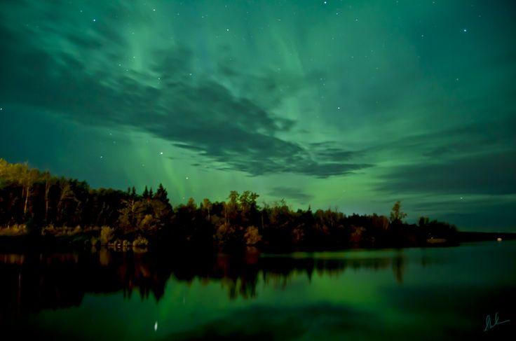 Northern Lights  Steve Milner, Charlie Lake near Ft St John British Columbia Canada, Aug. 6, 2011
