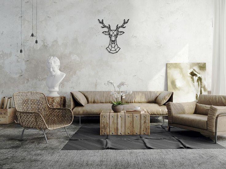 Dekoracja na ścianę Jeleń   designerski
