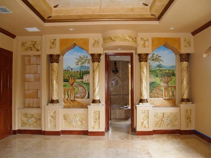 Two Beautiful Murals Painted For A Master Bedroom, Also Columns And Faux  Finishes Were Painted
