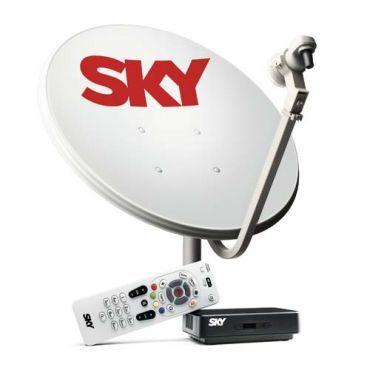 Ricardo Eletro Kit de Antena Parabólica Sky 60 cm + Receptor Digital Sky Pré Pago Flex SD - R$141,55 á vista